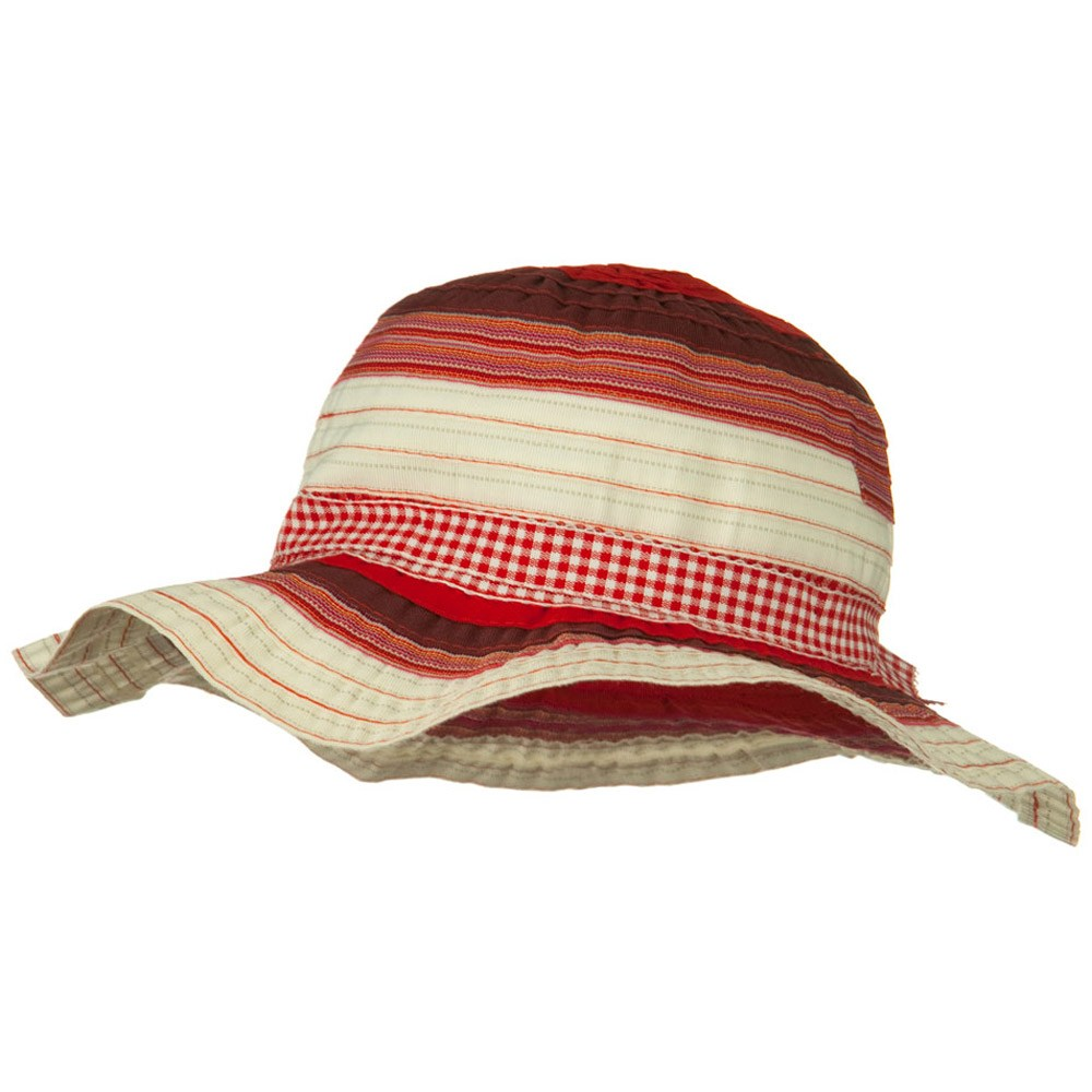 Girls Ribbon 3 Inch Brim Hat - Red - Hats and Caps Online Shop - Hip Head Gear