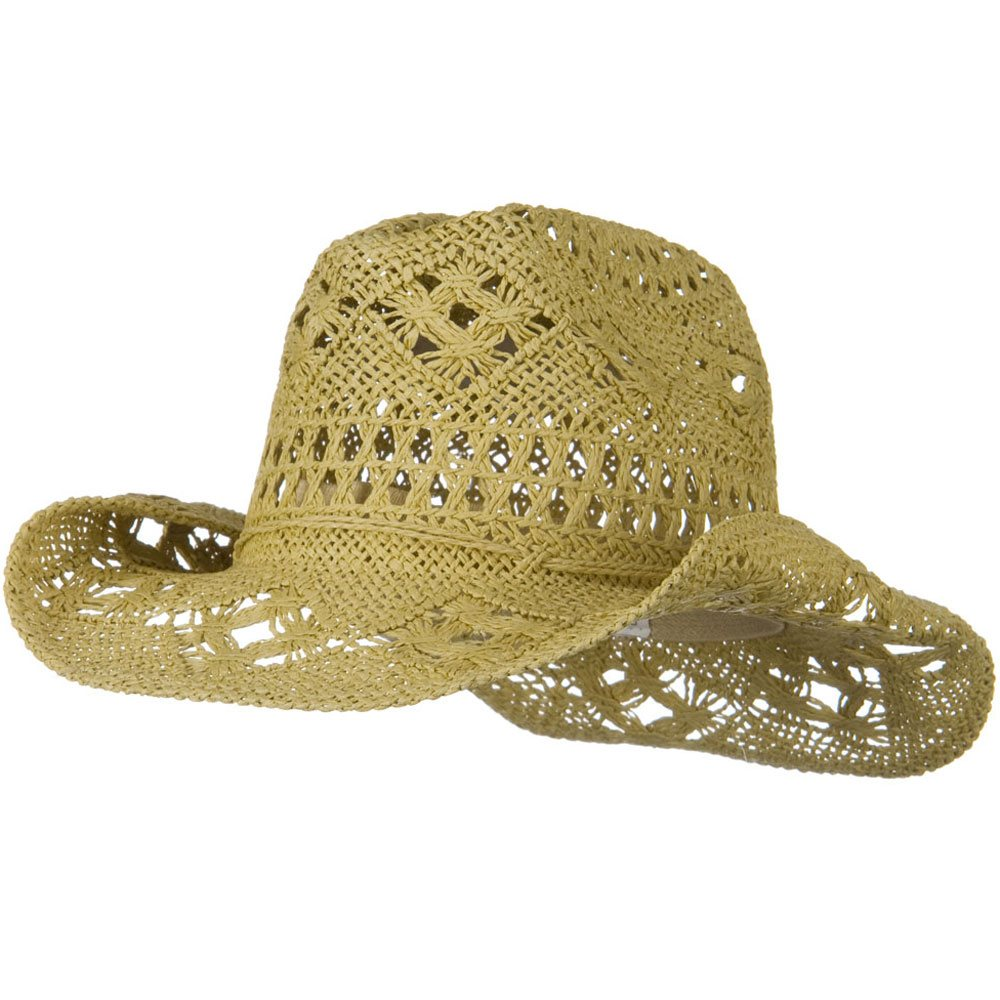 Girls Self Tie Straw Cowboy Hat - Tan - Hats and Caps Online Shop - Hip Head Gear