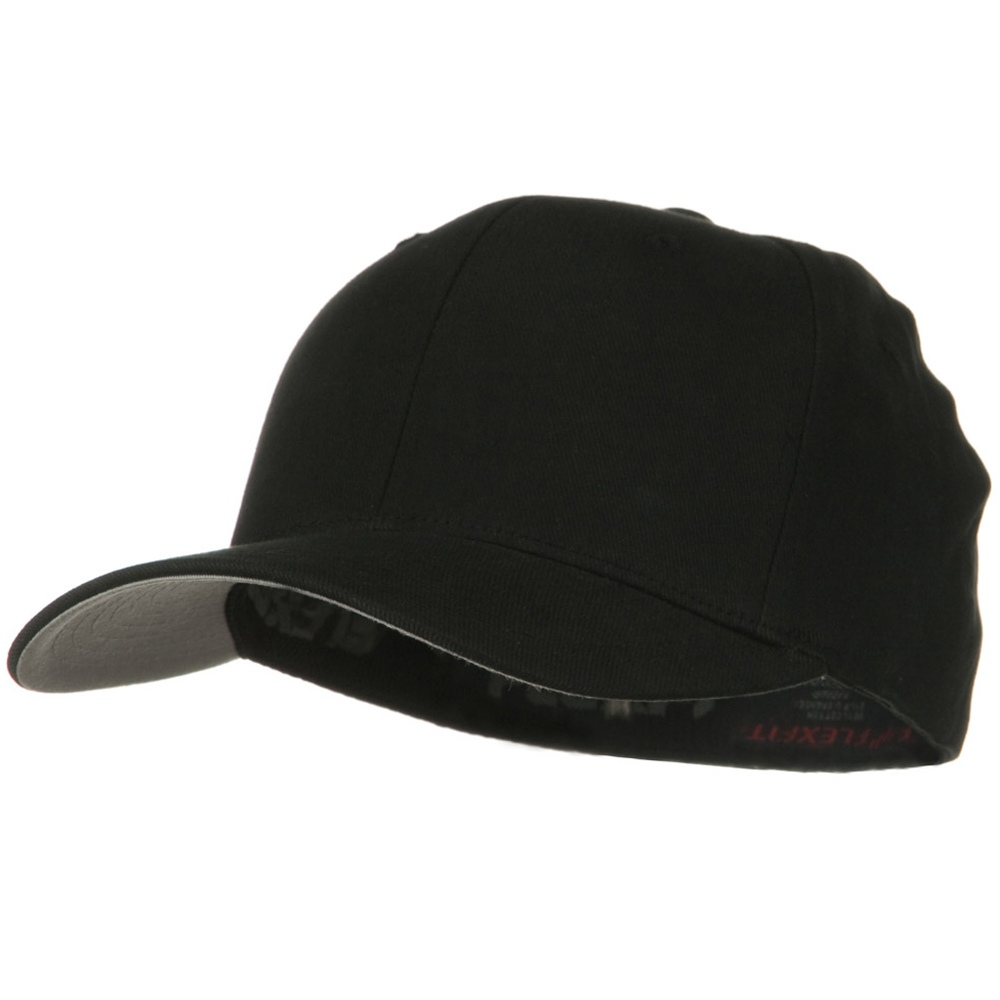 Brushed Twill Flexfit Cap - Black - Hats and Caps Online Shop - Hip Head Gear