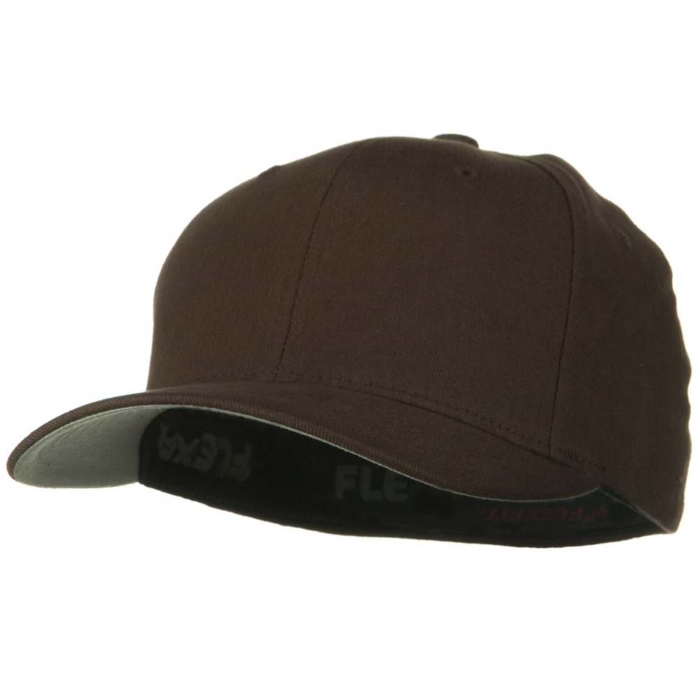 Brushed Twill Flexfit Cap - Brown - Hats and Caps Online Shop - Hip Head Gear