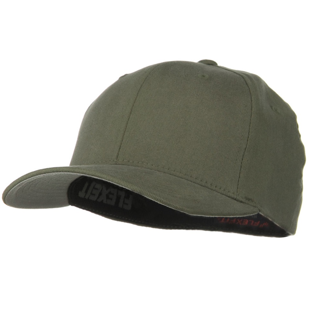 Brushed Twill Flexfit Cap - Grey - Hats and Caps Online Shop - Hip Head Gear