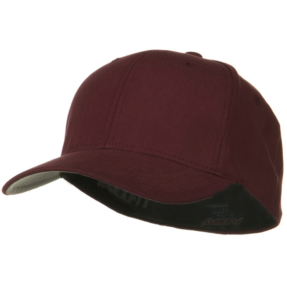 Brushed Twill Flexfit Cap - Maroon - Hats and Caps Online Shop - Hip Head Gear