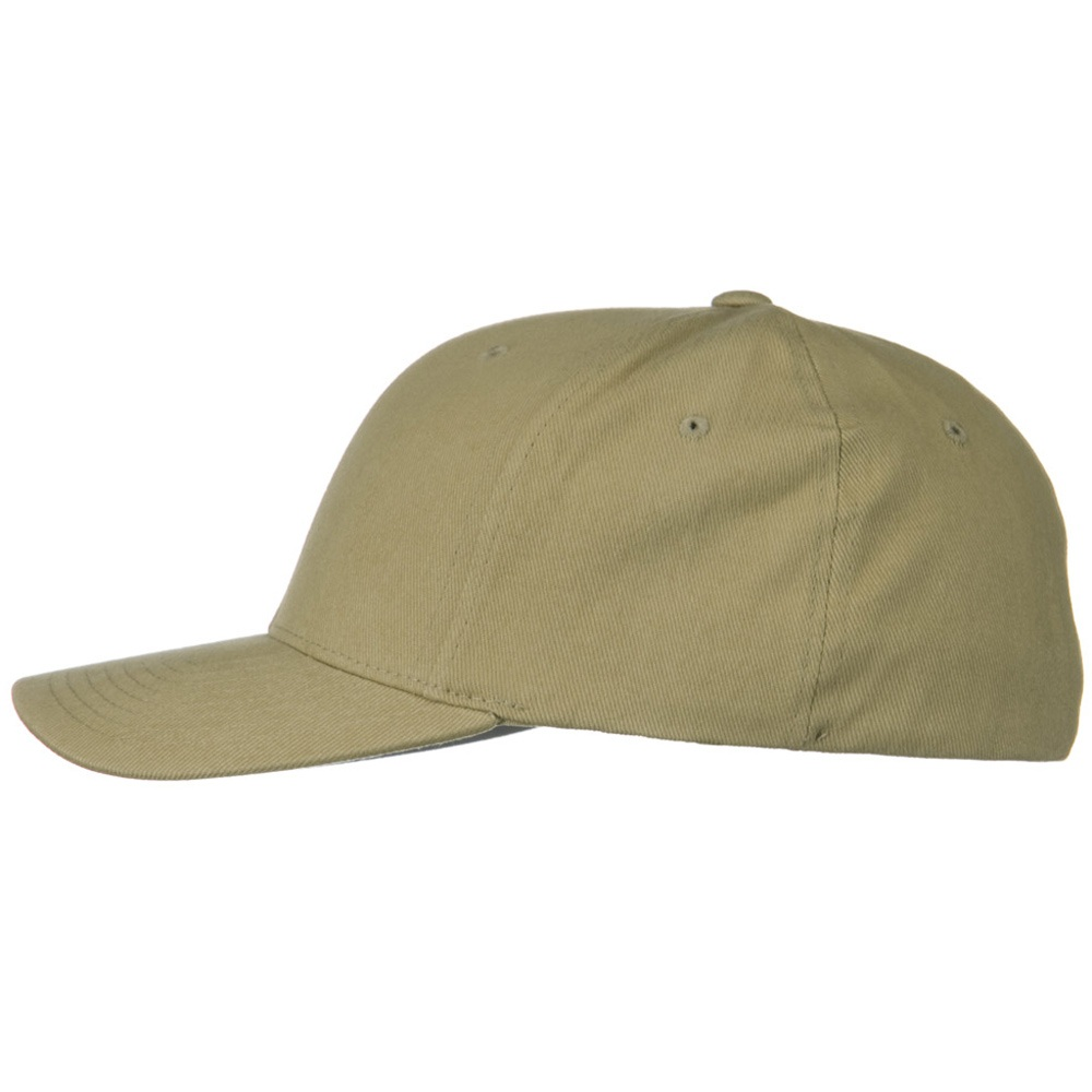 Brushed Twill Flexfit Cap - Khaki - Hats and Caps Online Shop - Hip Head Gear