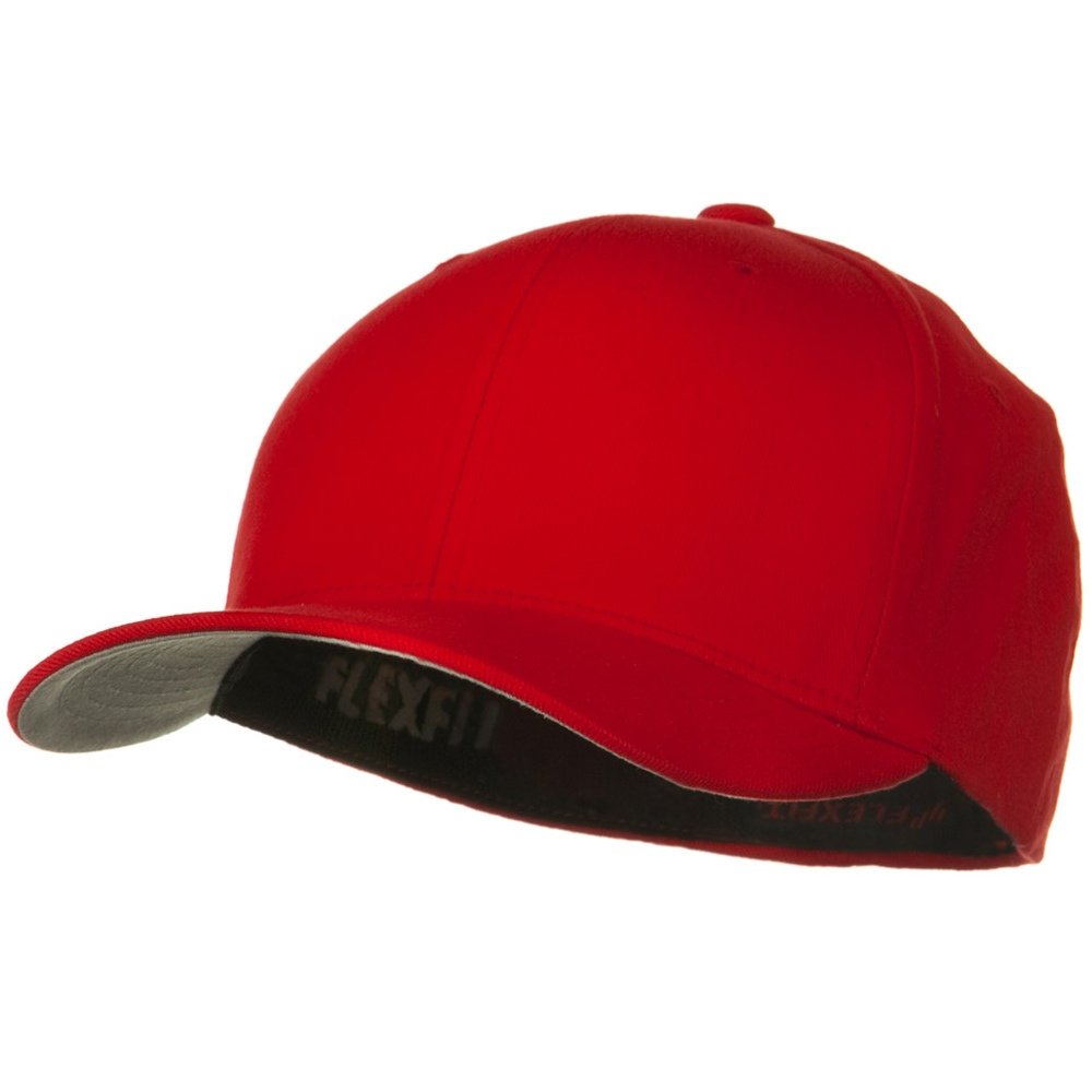 Brushed Twill Flexfit Cap - Red - Hats and Caps Online Shop - Hip Head Gear