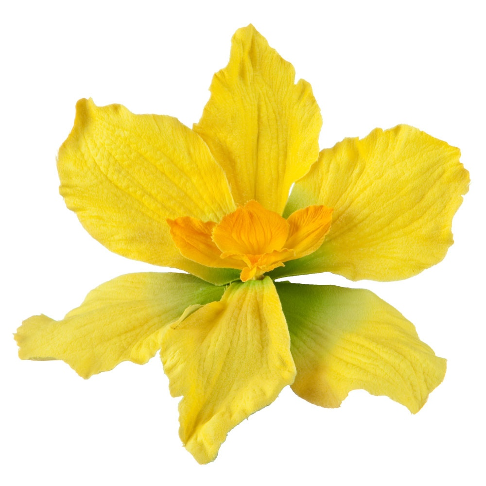 Lily Pin and Clip with Wire in Petals - Yellow