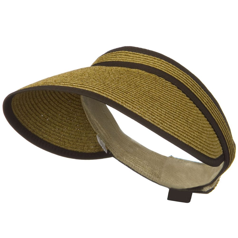 UPF 50+ Woman's Trim Visor - Brown - Hats and Caps Online Shop - Hip Head Gear