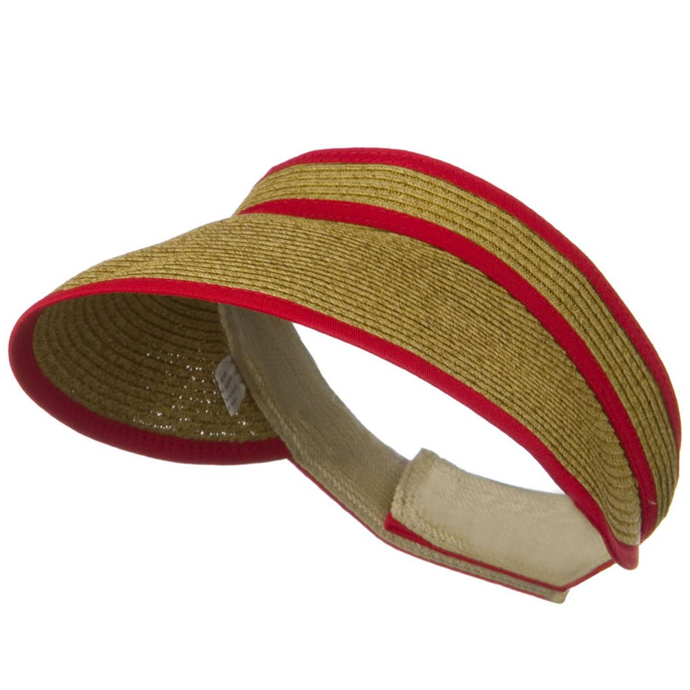 UPF 50+ Woman's Trim Visor - Red - Hats and Caps Online Shop - Hip Head Gear