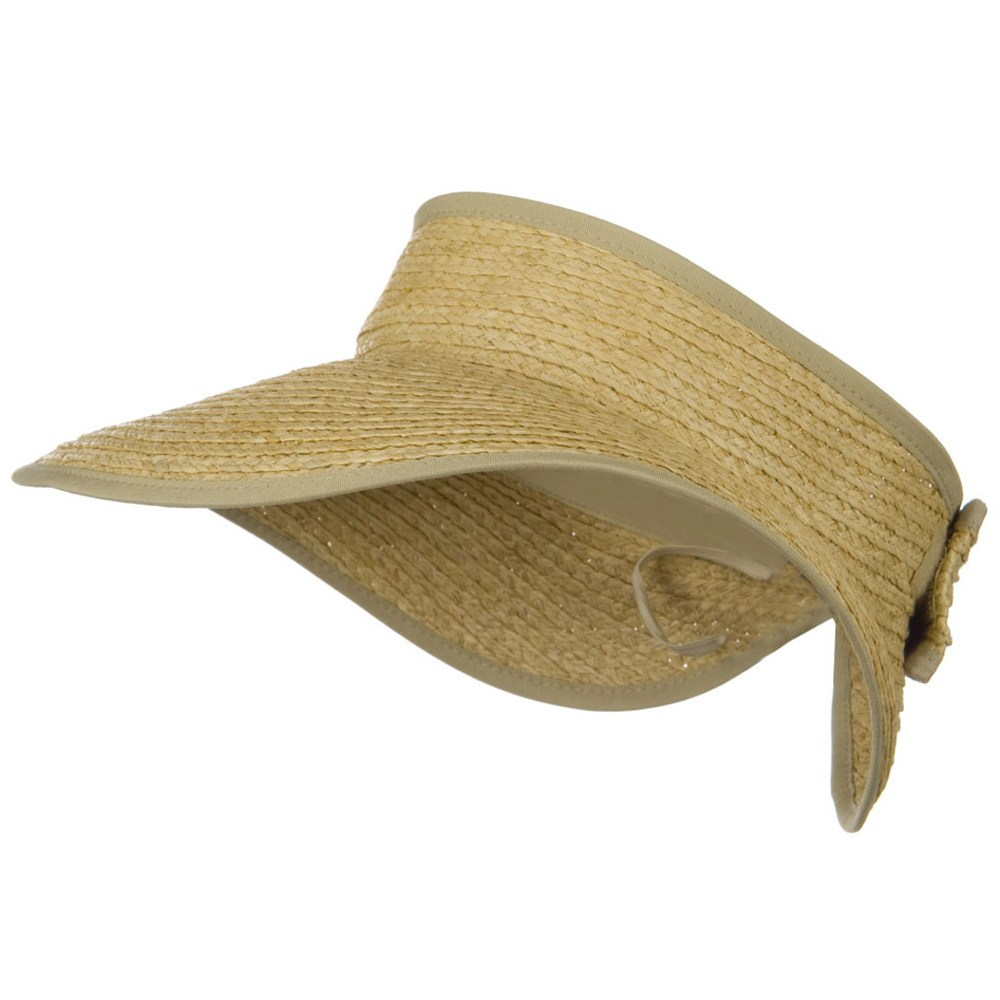 Raffia Wide Brim Roll Up Visor - Natural - Hats and Caps Online Shop - Hip Head Gear