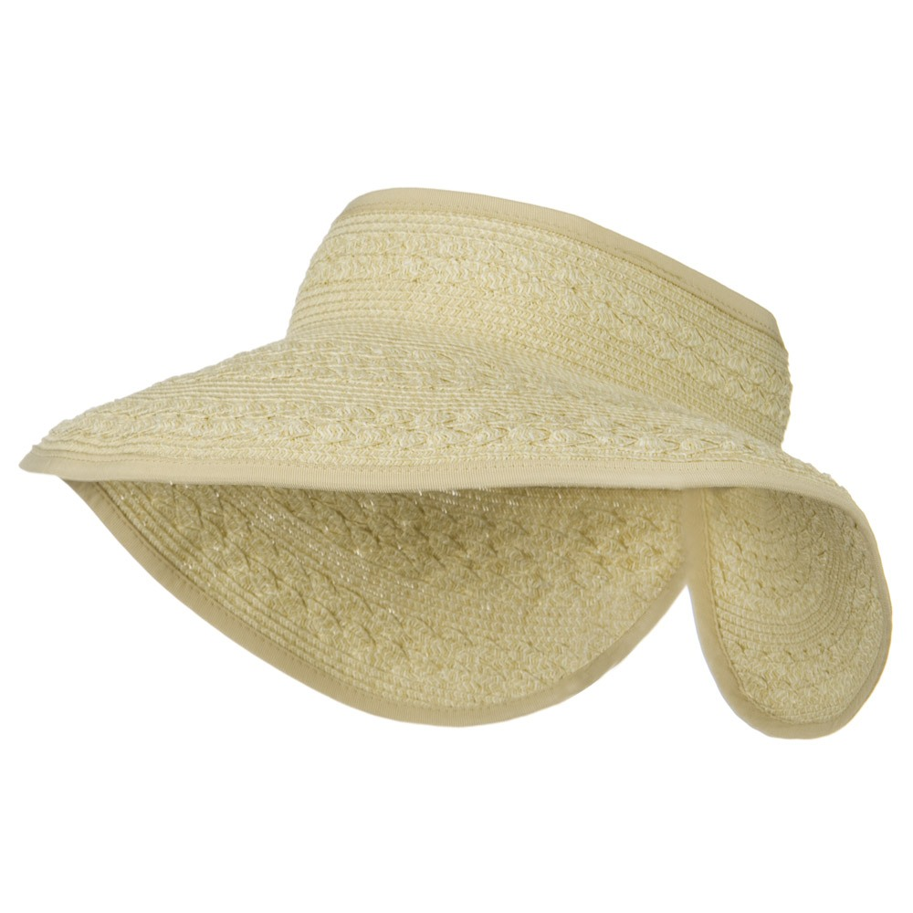 UPF 50+ Roll Up Toyo Wide Brim Visor - Wheat - Hats and Caps Online Shop - Hip Head Gear