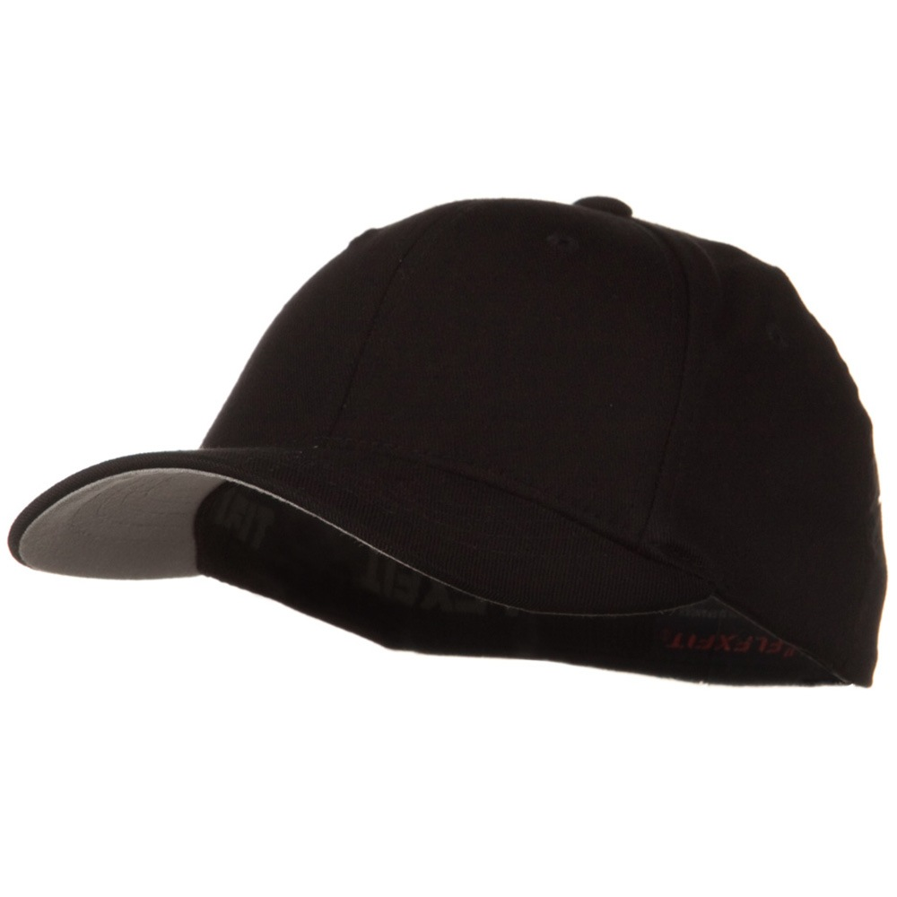 Flexfit Youth Wooly Combed Twill Cap - Black - Hats and Caps Online Shop - Hip Head Gear