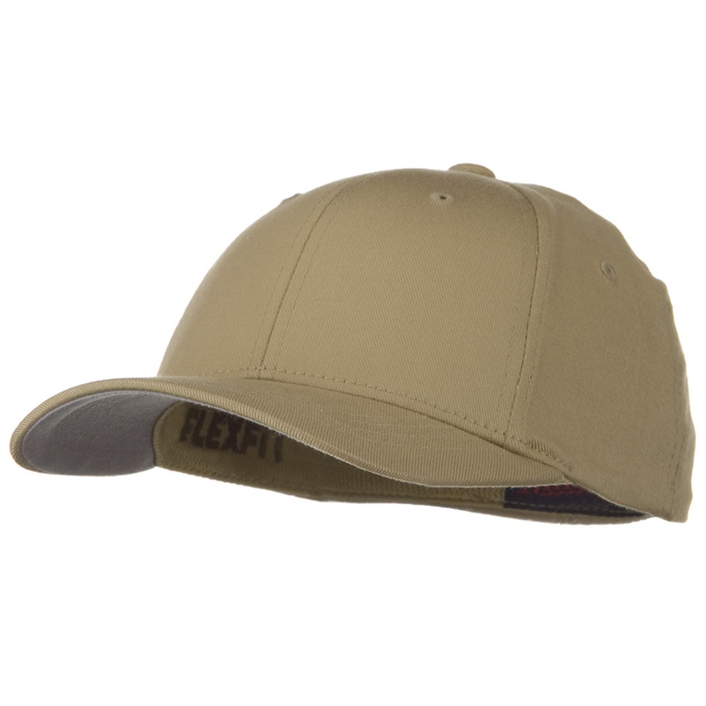 Flexfit Youth Wooly Combed Twill Cap - Khaki - Hats and Caps Online Shop - Hip Head Gear