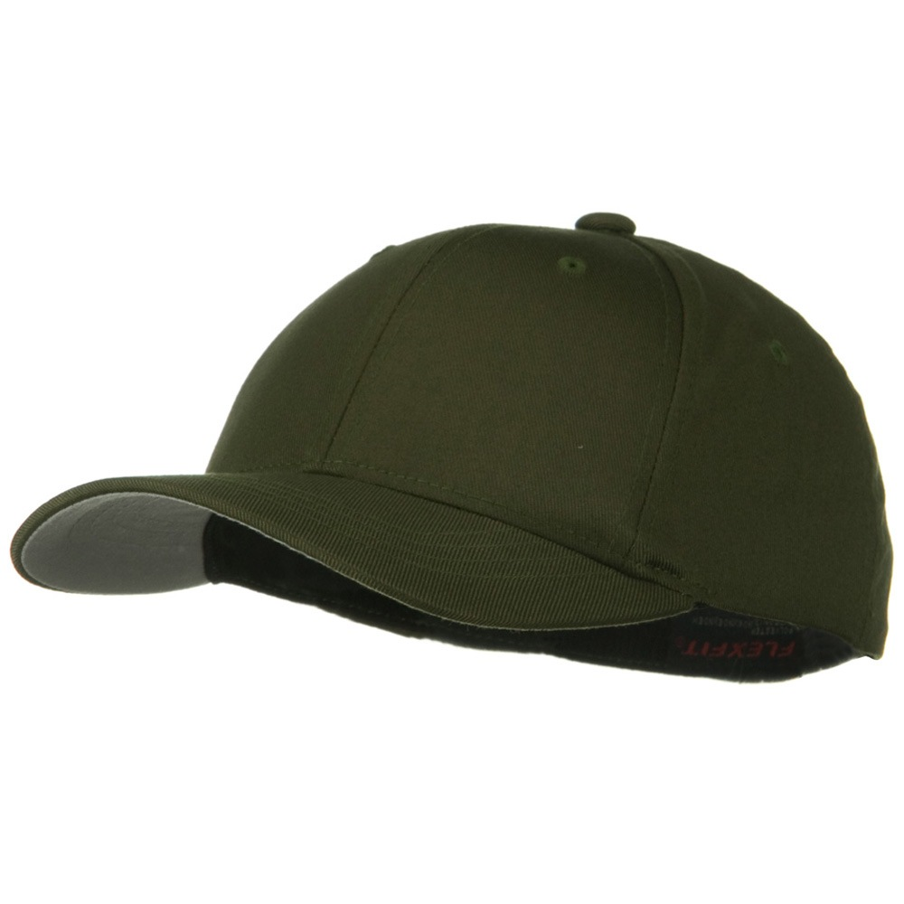Flexfit Youth Wooly Combed Twill Cap - Olive - Hats and Caps Online Shop - Hip Head Gear
