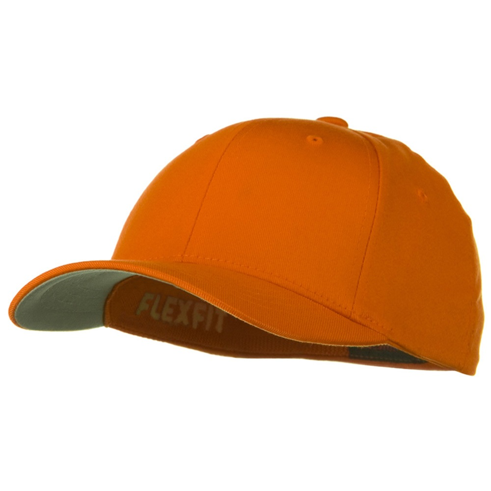 Flexfit Youth Wooly Combed Twill Cap - Orange - Hats and Caps Online Shop - Hip Head Gear