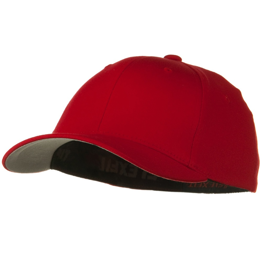 Flexfit Youth Wooly Combed Twill Cap - Red - Hats and Caps Online Shop - Hip Head Gear