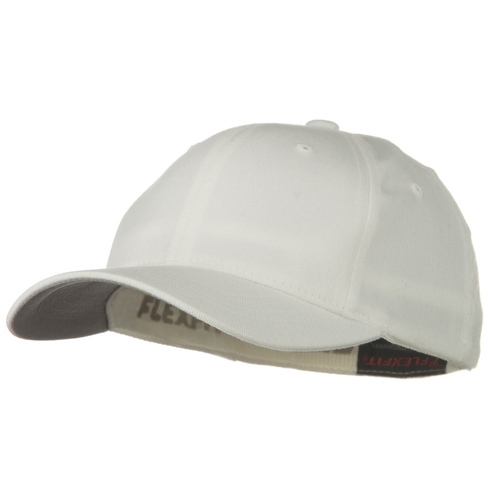 Flexfit Youth Wooly Combed Twill Cap - White - Hats and Caps Online Shop - Hip Head Gear