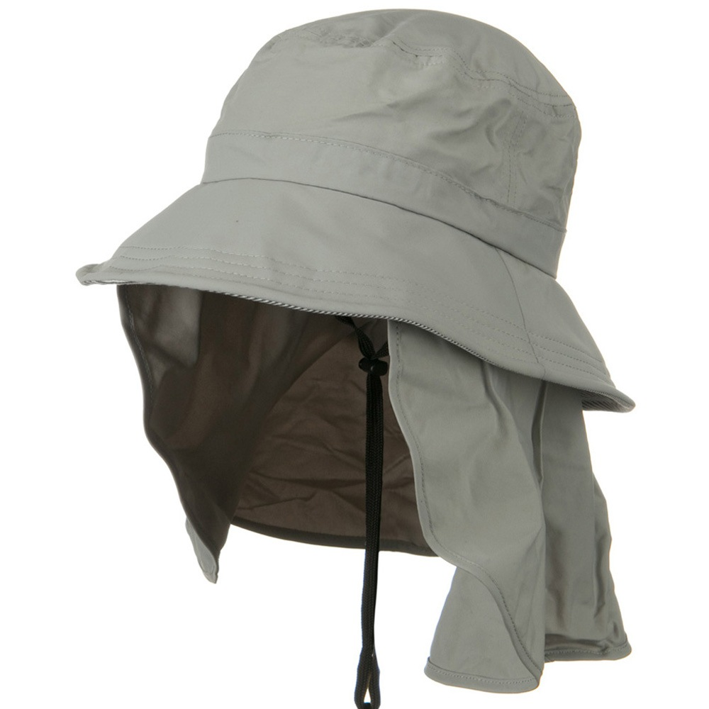 UV 50+ Talson Removable Flap UV Bucket Hat - Grey - Hats and Caps Online Shop - Hip Head Gear