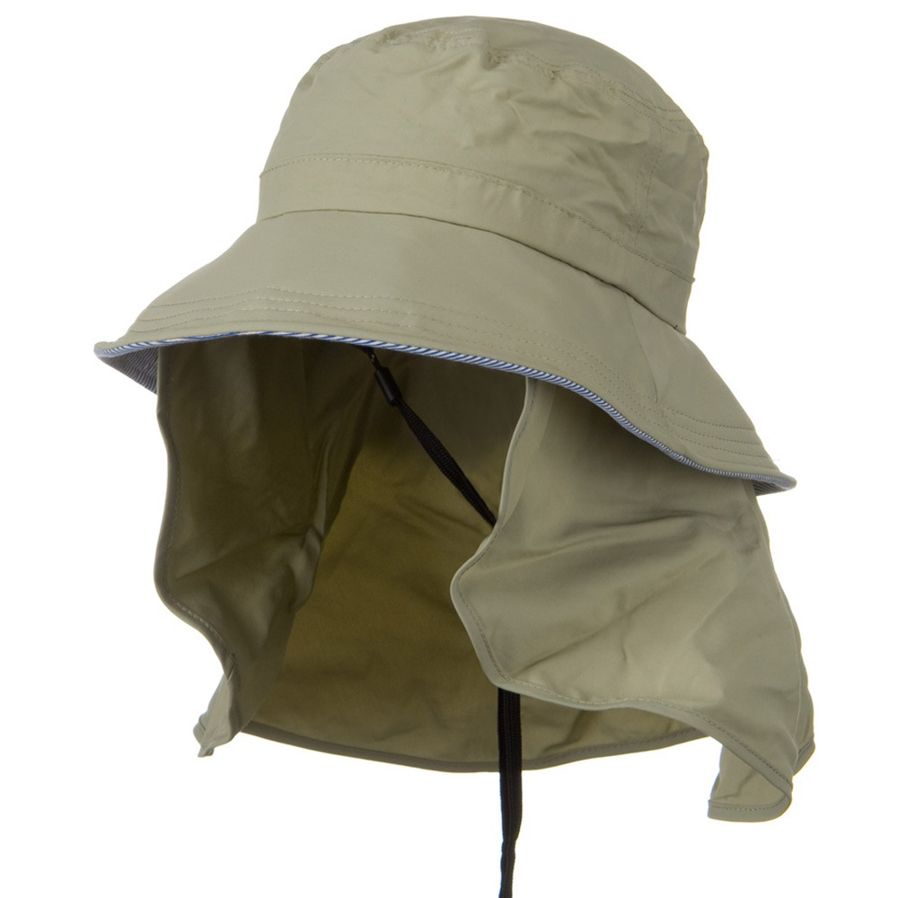 UV 50+ Talson Removable Flap UV Bucket Hat - Khaki - Hats and Caps Online Shop - Hip Head Gear