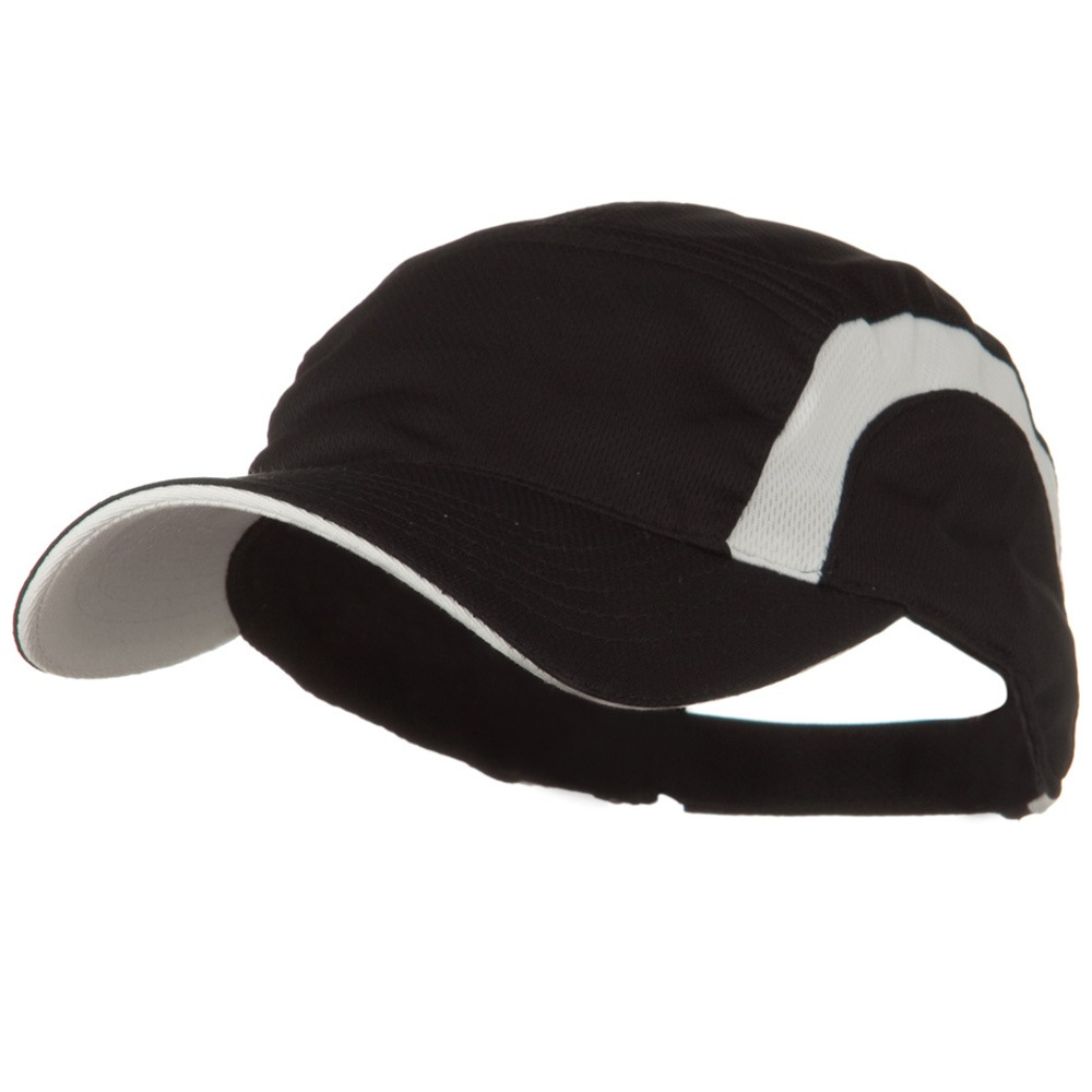 Cool Mesh Runner's Two Tone Cap - Black White - Hats and Caps Online Shop - Hip Head Gear