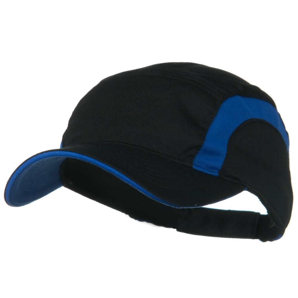 Cool Mesh Runner's Two Tone Cap - Black Royal - Hats and Caps Online Shop - Hip Head Gear