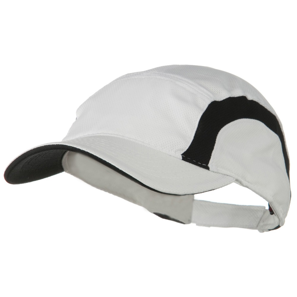 Cool Mesh Runner's Two Tone Cap - White Black - Hats and Caps Online Shop - Hip Head Gear