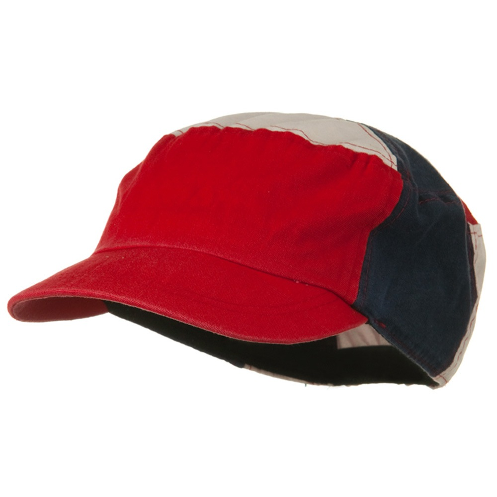 Multi Color Military Cap - Red White Blue - Hats and Caps Online Shop - Hip Head Gear