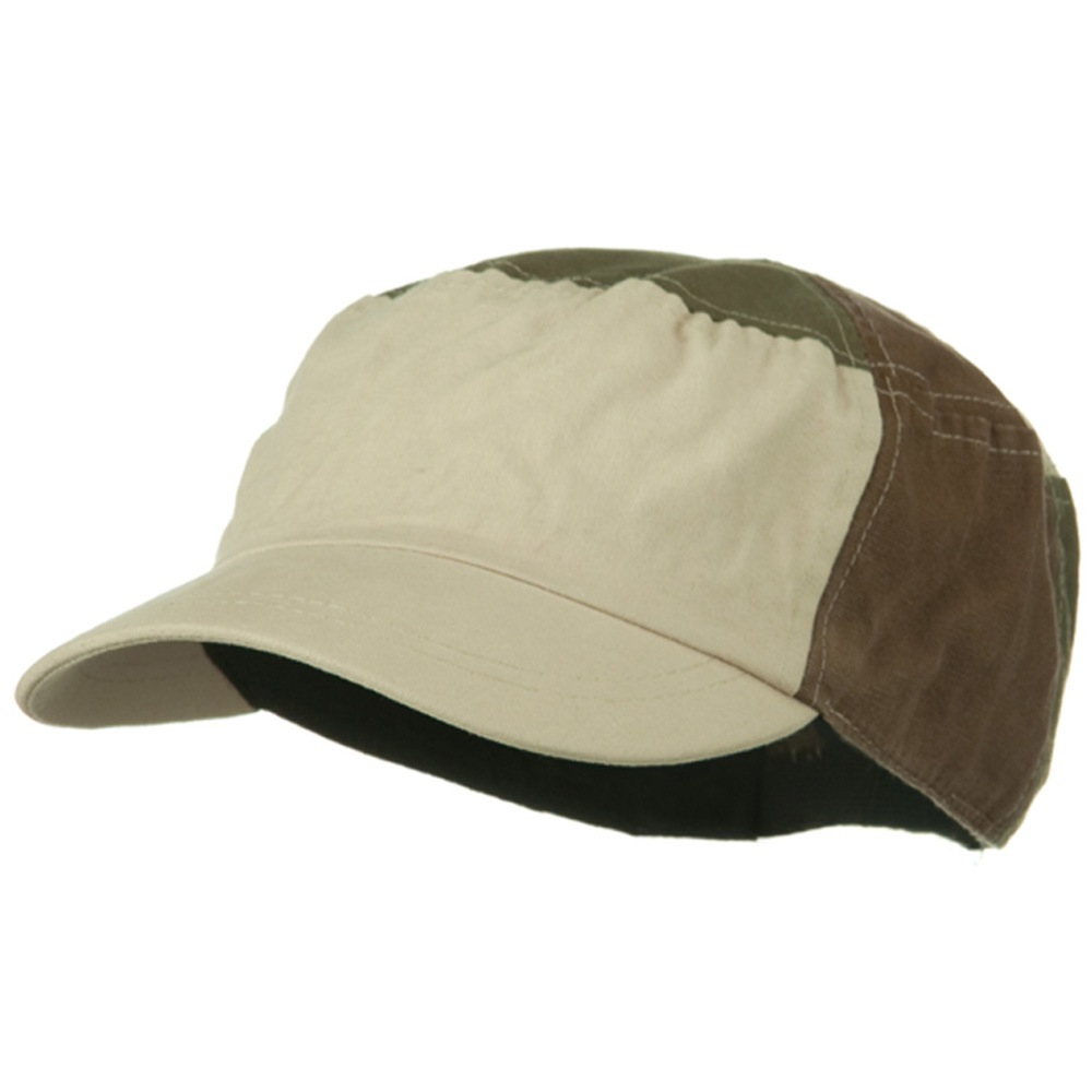 Multi Color Military Cap - Beige Olive Brown - Hats and Caps Online Shop - Hip Head Gear
