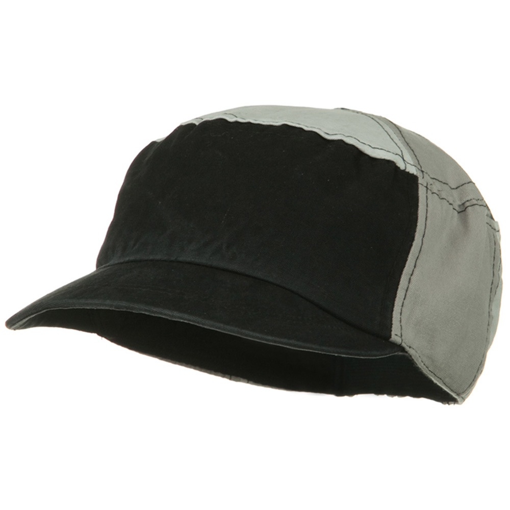 Multi Color Military Cap - Black Grey - Hats and Caps Online Shop - Hip Head Gear