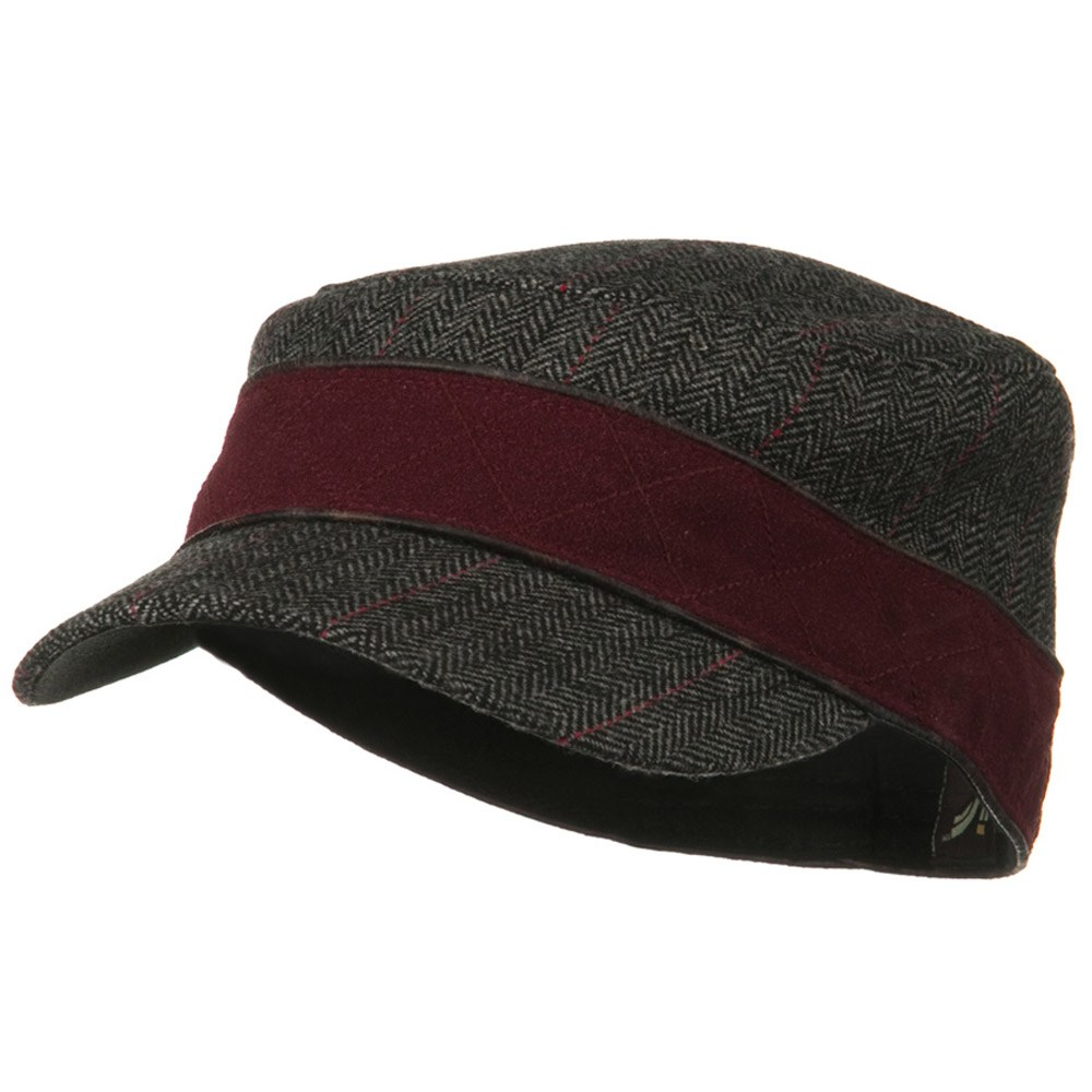 Infinity Wool Blend Army Cap - Burgundy - Hats and Caps Online Shop - Hip Head Gear