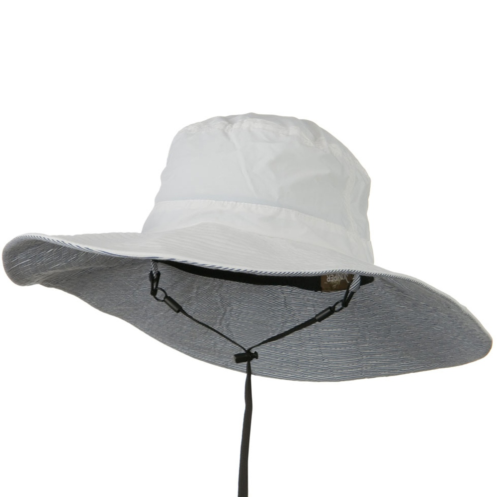 UPF 50+ Wide Brim Talson Bucket Hat - White - Hats and Caps Online Shop - Hip Head Gear
