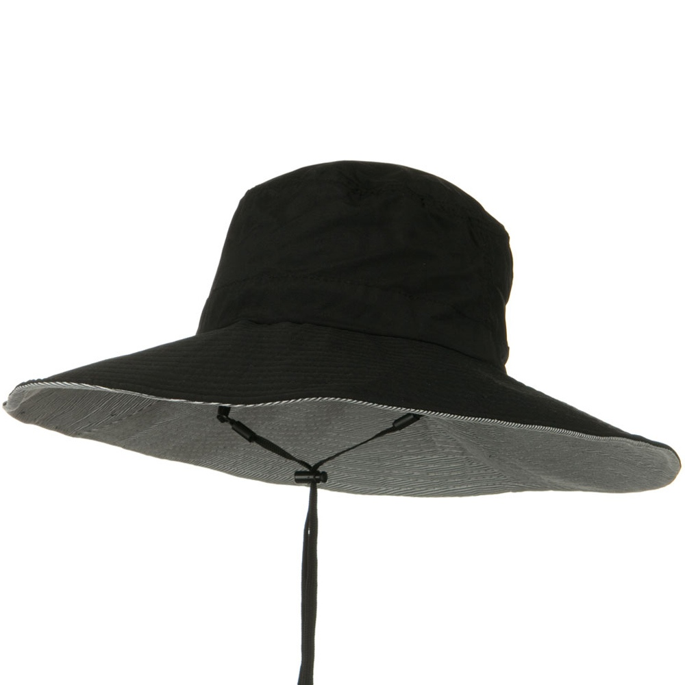 UPF 50+ Wide Brim Talson Bucket Hat - Black - Hats and Caps Online Shop - Hip Head Gear
