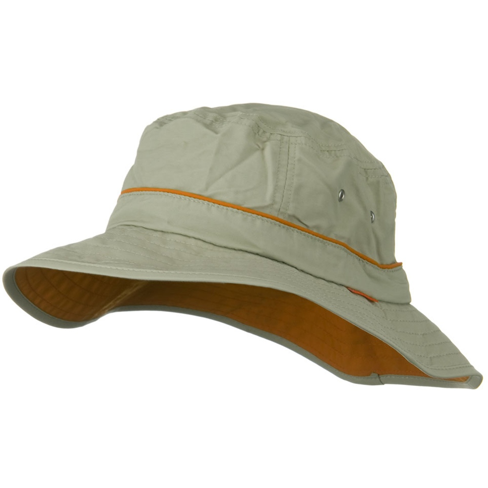 UV 50+ Orange Piping Talson Sun Bucket Hat - Khaki - Hats and Caps Online Shop - Hip Head Gear