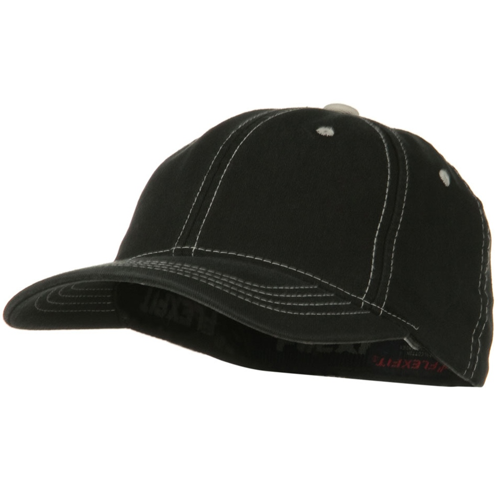 Flexfit Contrasting Stitch Cap - Black - Hats and Caps Online Shop - Hip Head Gear