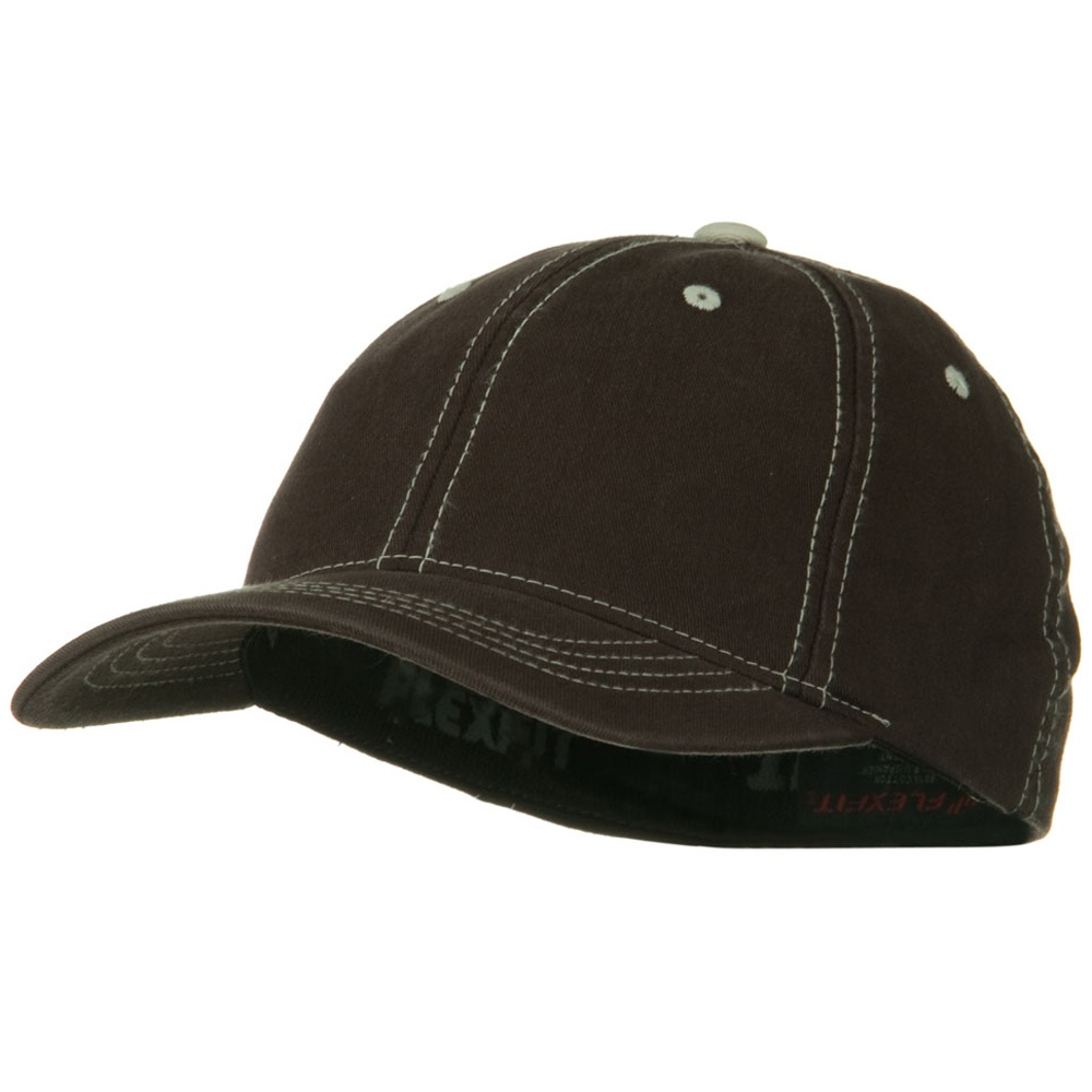 Flexfit Contrasting Stitch Cap - Brown - Hats and Caps Online Shop - Hip Head Gear