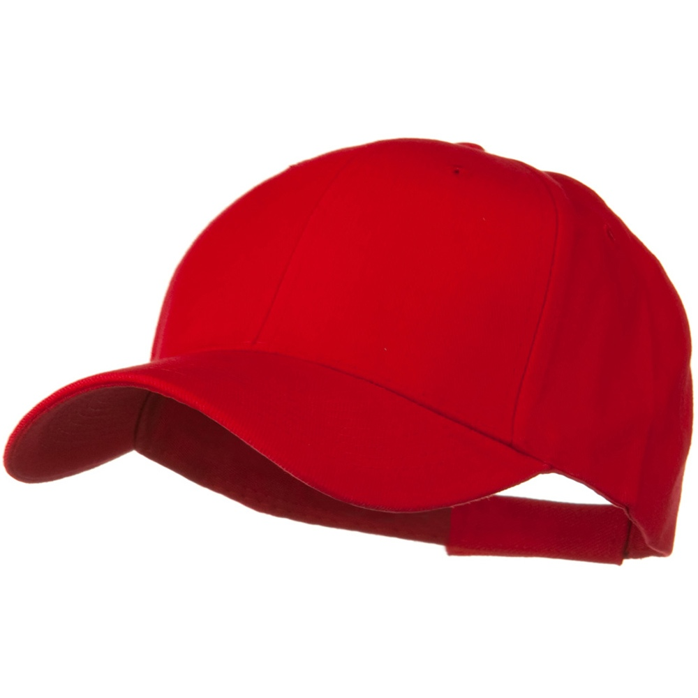 Brushed Bull Denim Low Profile Cap - Red - Hats and Caps Online Shop - Hip Head Gear