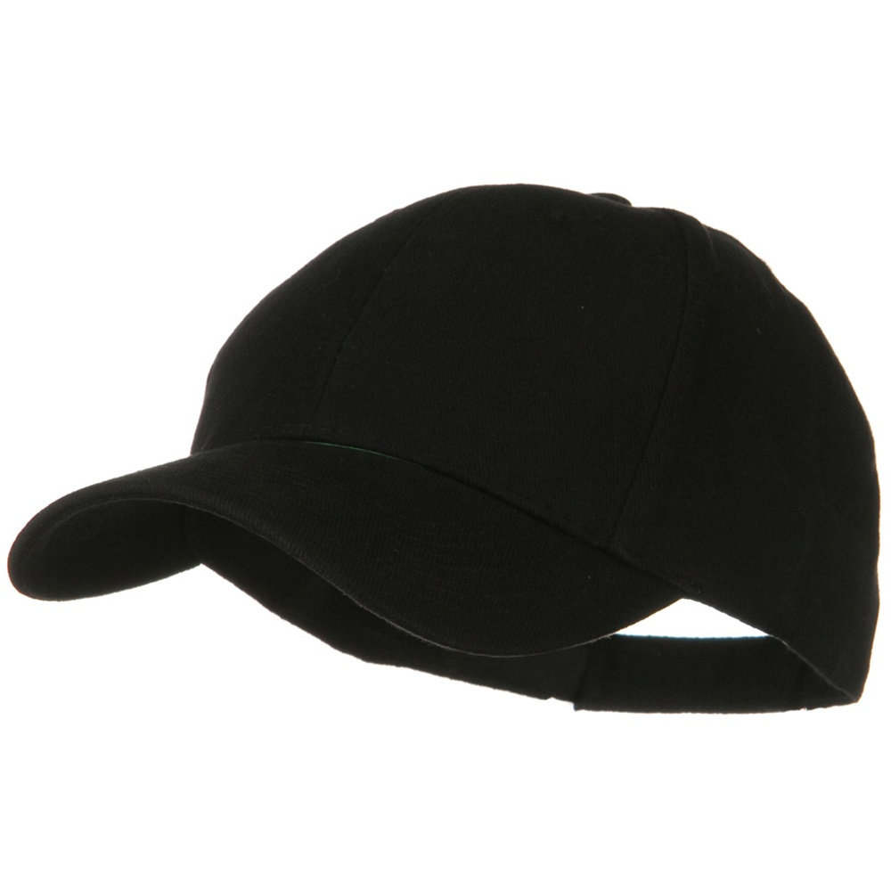 Brushed Bull Denim Low Profile Cap - Black - Hats and Caps Online Shop - Hip Head Gear
