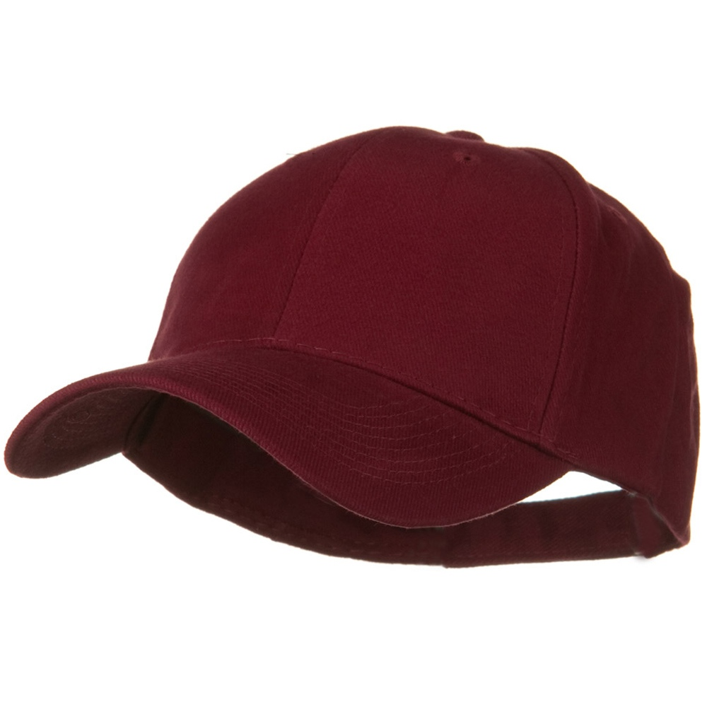 Brushed Bull Denim Low Profile Cap - Maroon - Hats and Caps Online Shop - Hip Head Gear