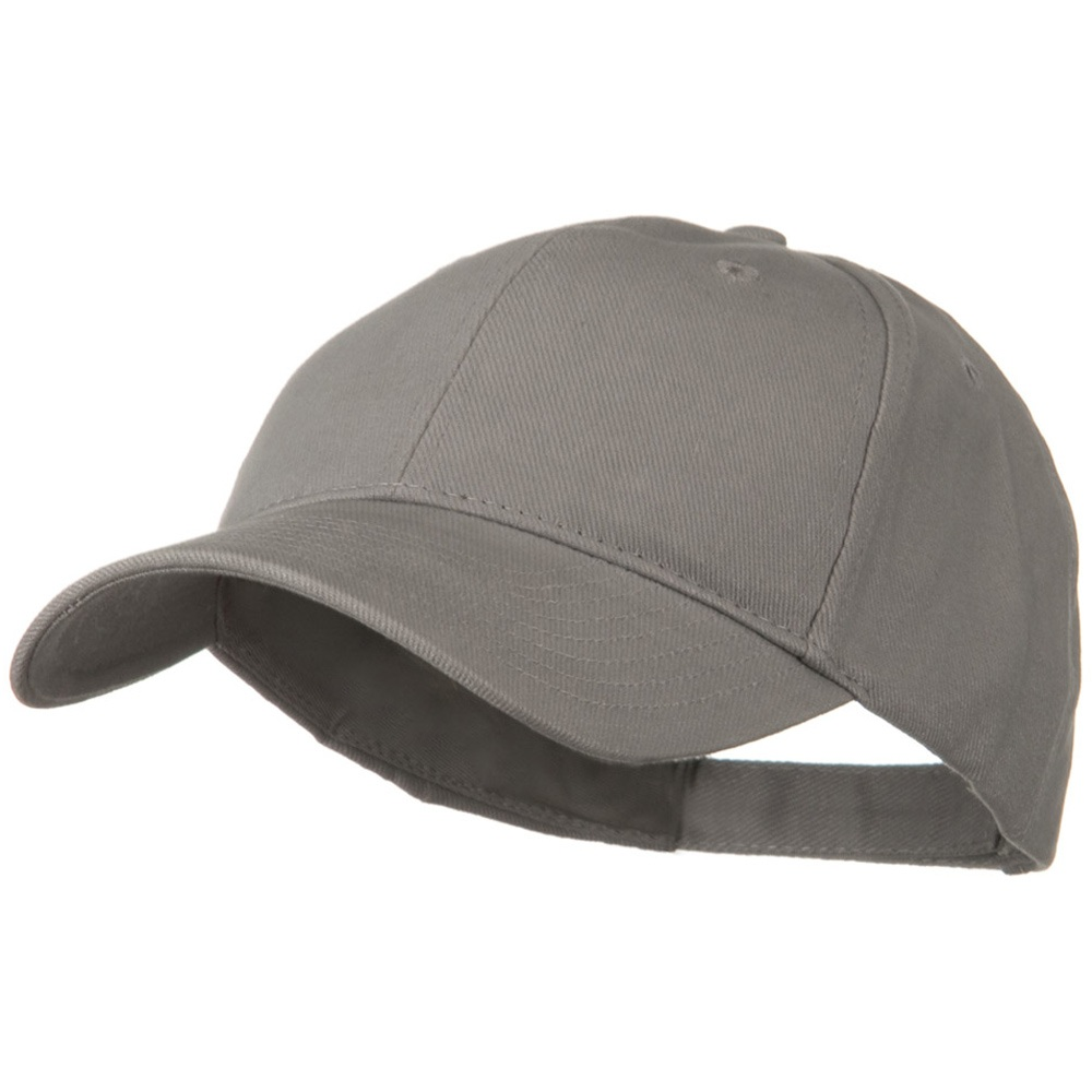 Brushed Bull Denim Low Profile Cap - Grey - Hats and Caps Online Shop - Hip Head Gear