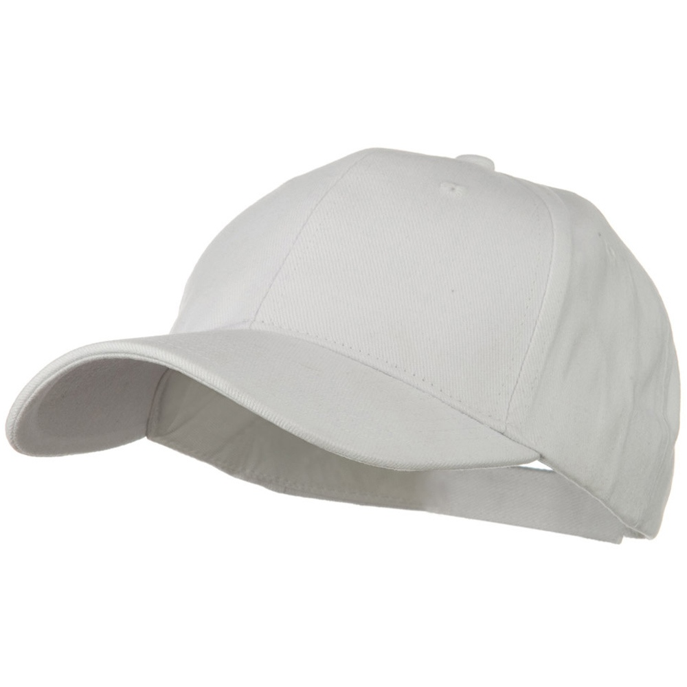 Brushed Bull Denim Low Profile Cap - White - Hats and Caps Online Shop - Hip Head Gear