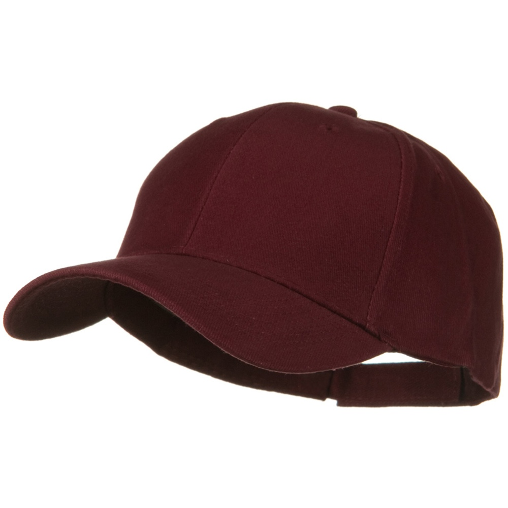 Brushed Bull Denim Low Profile Cap - Burgundy - Hats and Caps Online Shop - Hip Head Gear