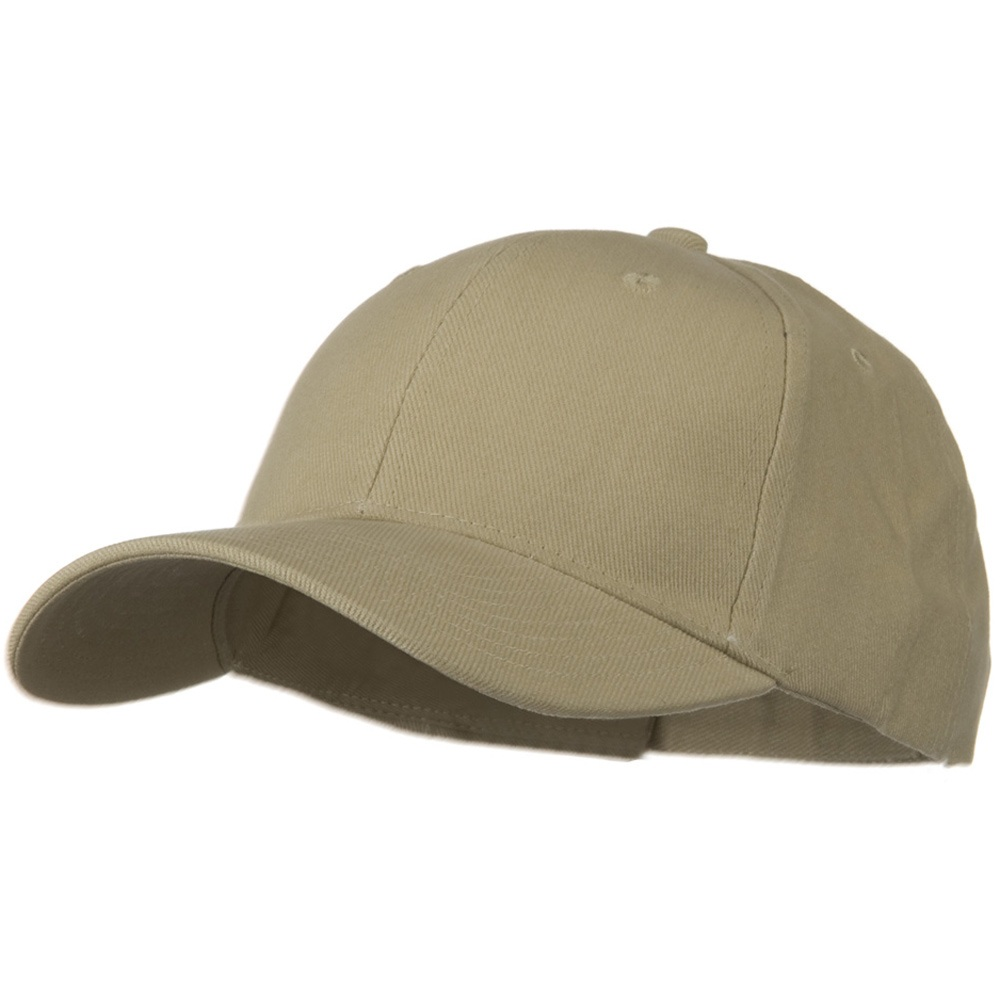 Brushed Bull Denim Low Profile Cap - Khaki - Hats and Caps Online Shop - Hip Head Gear