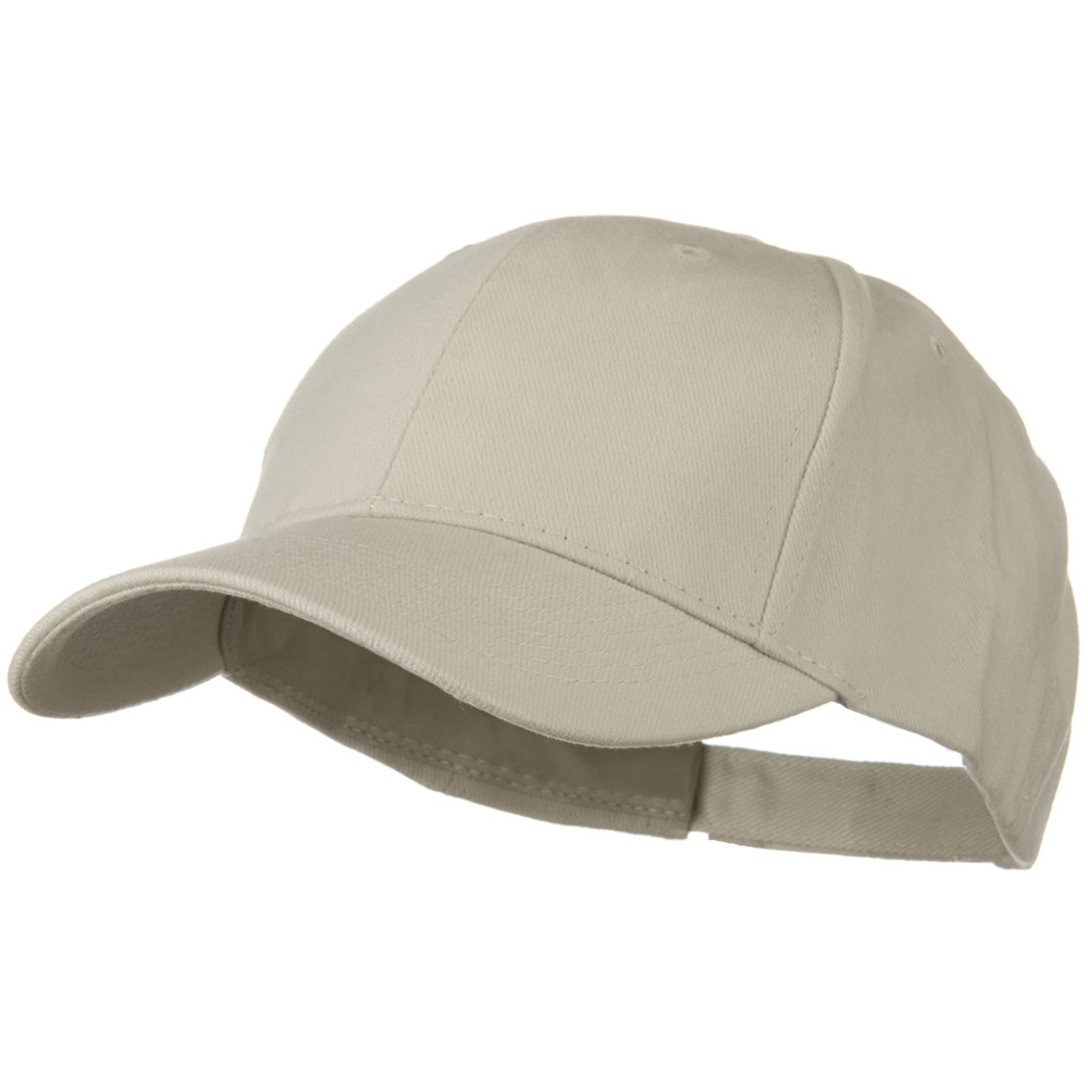 Brushed Bull Denim Low Profile Cap - Stone Grey - Hats and Caps Online Shop - Hip Head Gear