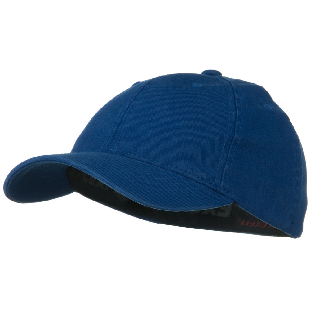 Youth Flexfit Garment Washed Cotton Cap - Royal - Hats and Caps Online Shop - Hip Head Gear