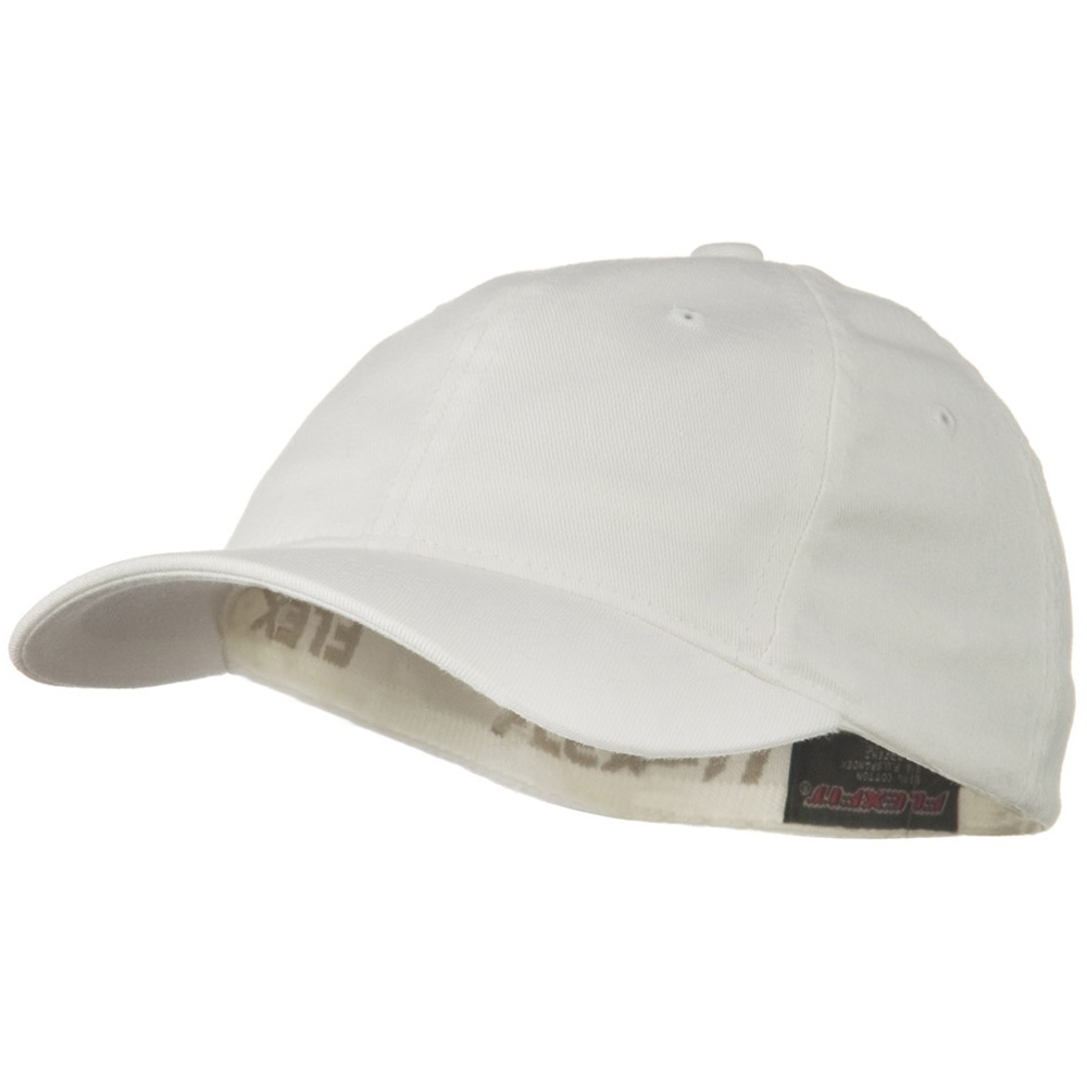 Youth Flexfit Garment Washed Cotton Cap - White - Hats and Caps Online Shop - Hip Head Gear