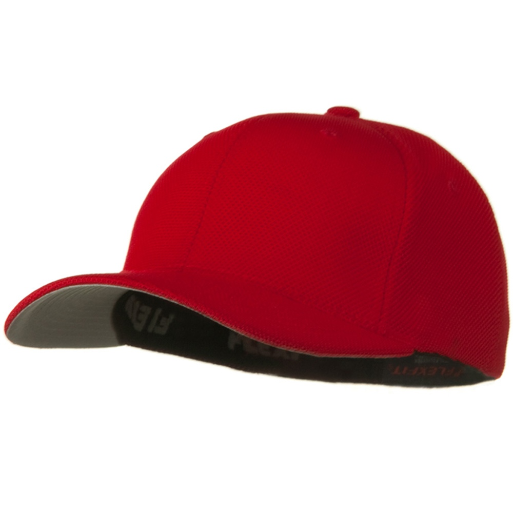 Flexfit Cool and Dry Pique Mesh Cap - Red - Hats and Caps Online Shop - Hip Head Gear