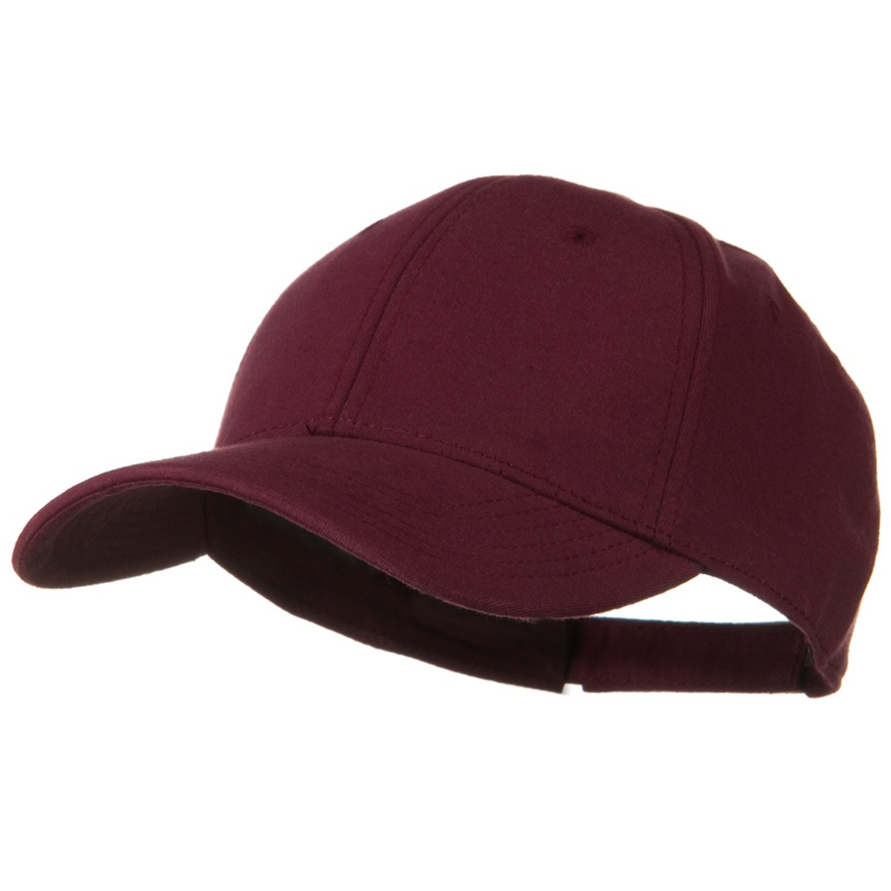 Comfy Cotton Jersey Knit Low Profile Strap Cap - Maroon - Hats and Caps Online Shop - Hip Head Gear