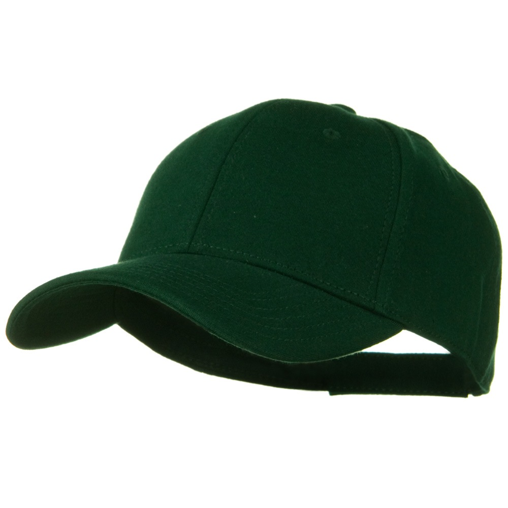 Comfy Cotton Jersey Knit Low Profile Strap Cap - Dark Green - Hats and Caps Online Shop - Hip Head Gear