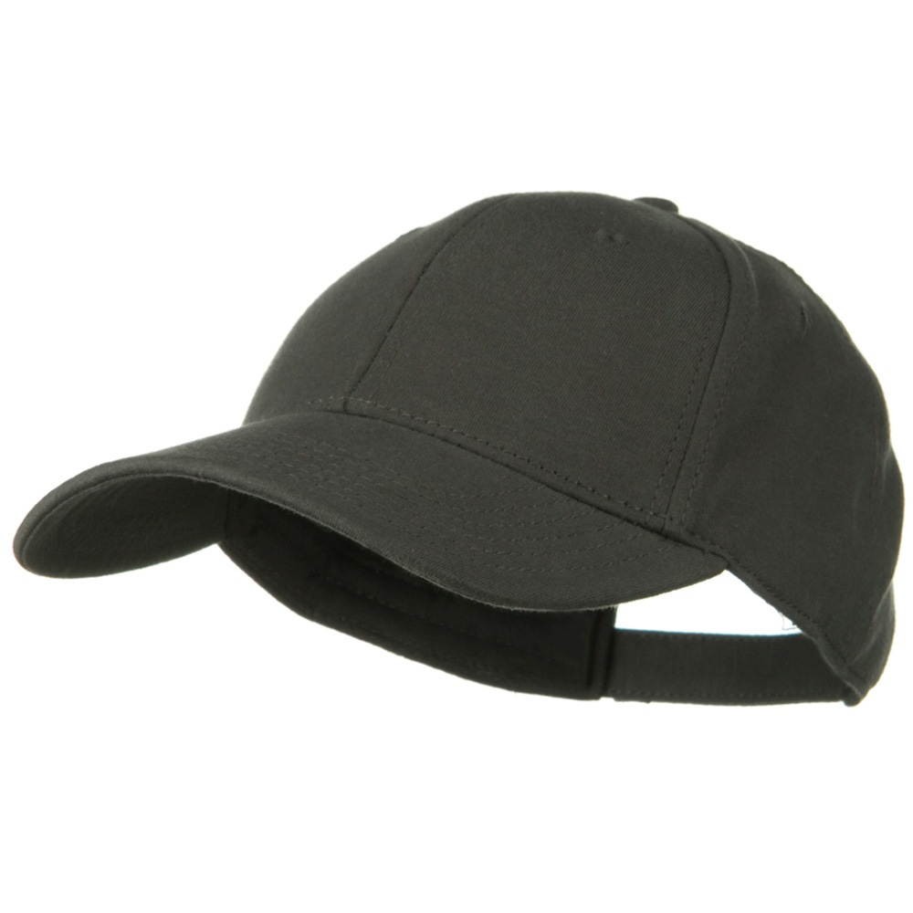 Comfy Cotton Jersey Knit Low Profile Strap Cap - Charcoal Grey - Hats and Caps Online Shop - Hip Head Gear