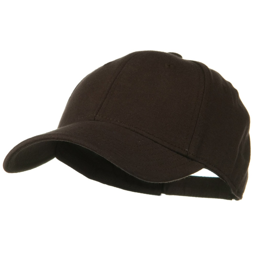 Comfy Cotton Jersey Knit Low Profile Strap Cap - Dark Brown - Hats and Caps Online Shop - Hip Head Gear