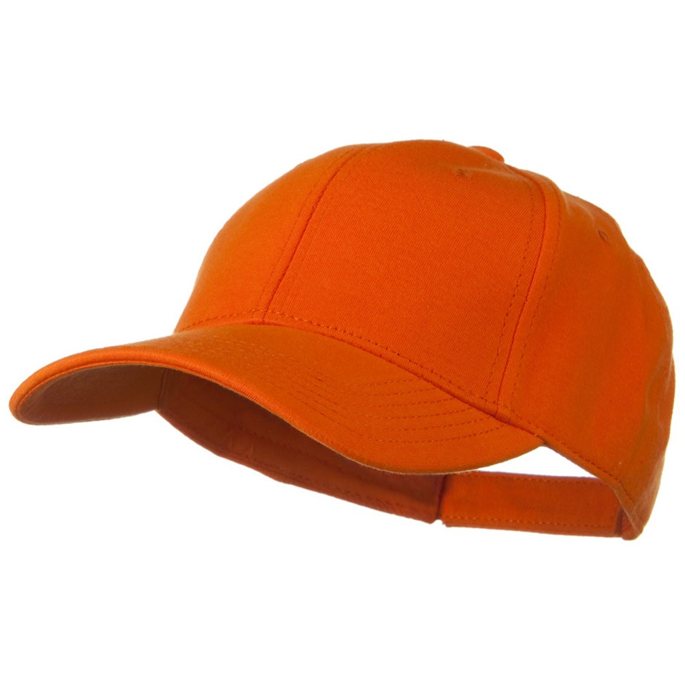 Comfy Cotton Jersey Knit Low Profile Strap Cap - Light Orange - Hats and Caps Online Shop - Hip Head Gear