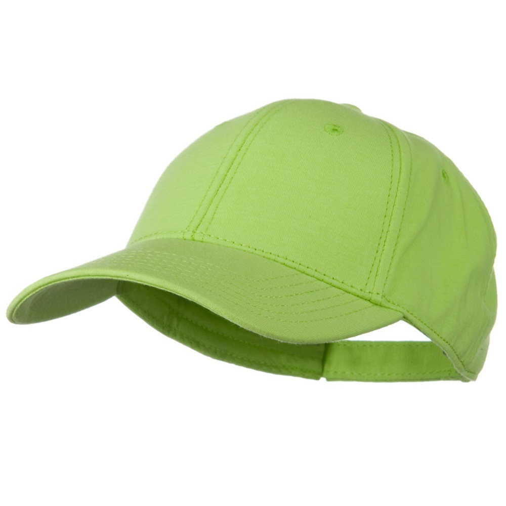 Comfy Cotton Jersey Knit Low Profile Strap Cap - Lime - Hats and Caps Online Shop - Hip Head Gear